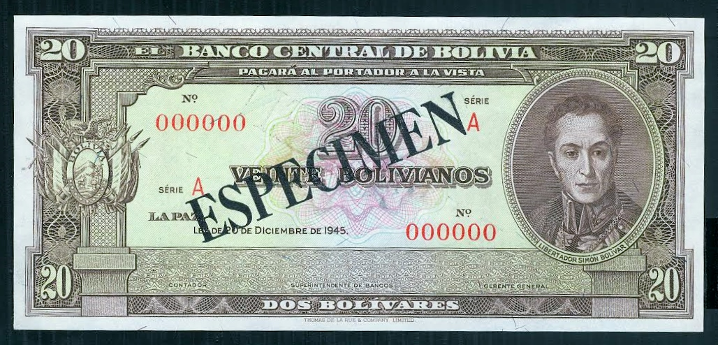 Bolivia 20 1945  Rue Co..jpg
